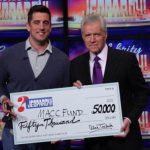 Green Bay Packers QB Aaron Rodgers won 50,000 dollars on Jeopardy