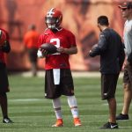 Johnny Football is back in Cleveland; Working with the second team