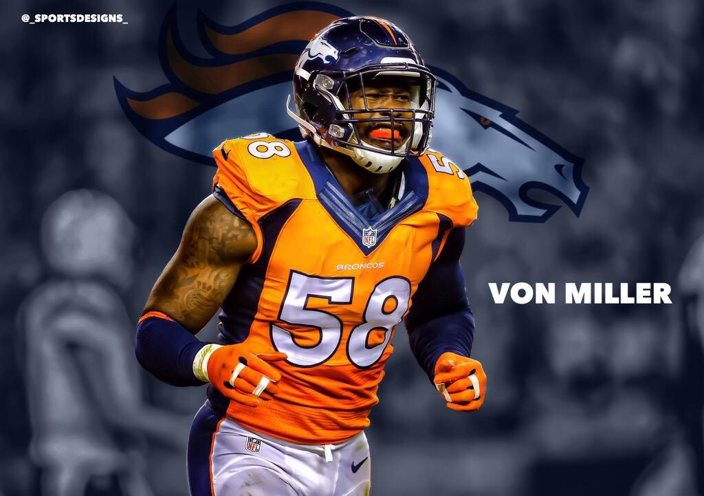 Super Bowl MVP Von Miller expects to be back long term with the Broncos even if they Franchise Tag him