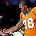 Demaryius Thomas wants to the NFL single season recieving yards record