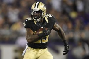 Saints running back Khiry Robinson was fined after striking an intern