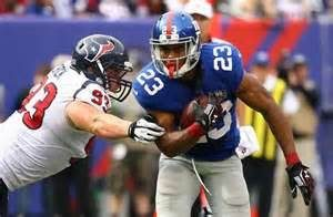 Giants running back Rashad Jennings says the Giants coaches told him not to score
