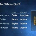 Bears plan on starting QB Jay Cutler today
