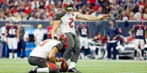 Kyle Brindza has been released by the Tampa Bay Buccaneers