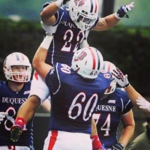 Duquesne University has two players that have NFL potential and one is mauler Dan Buchholz