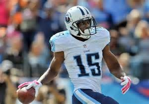 Titans wide out Justin Hunter is down with the year