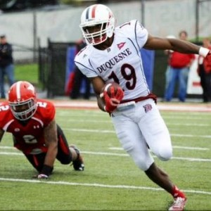 Duquesne WR Chris King was released by the Cardinals following an injury