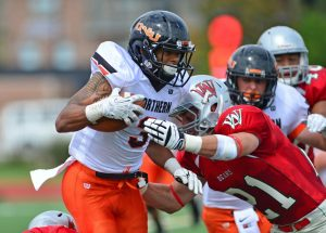 Ohio Northern University wide out Devon Price is a speedster