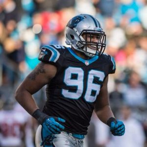 Panthers have released defensive end Wes Horton