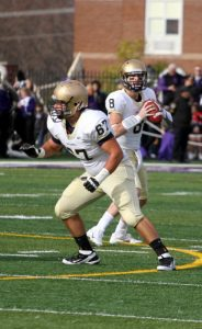 John Carroll offensive lineman Anthony Latina is a veteran on the line for JCU. He is a good player with great movement.