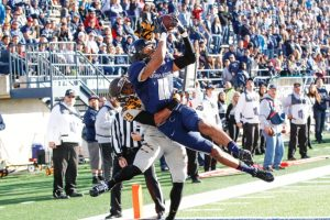 Utah State wide out Brandon Swindall is a big wide out with great hands