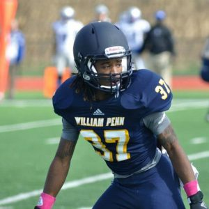 William Penn corner Caesar Harris is a speedster with a mean streak. I like his style of play