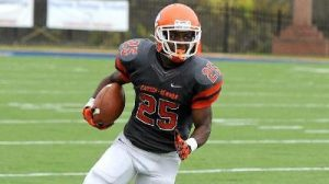 Carson Newman running back Damian Baker was offensive player of the year for a reason. He is a very good back.