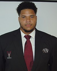 Virginia Union has a monster offensive tackle in Dahon Taylor. He does a great job at slowing down defenders.