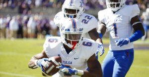 Tulsa DB Darrell Williams is a physical corner that has good hands and is not afraid to lay the BOOM!!