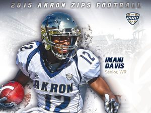 Akron wide out Imani Davis is a great wide out with good and sand speed.