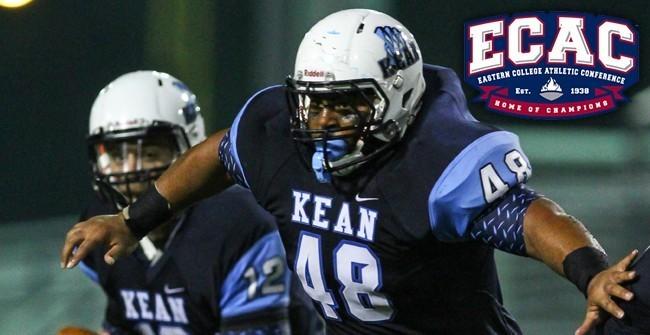 Kean University has a big blocking back in Jaishon Moore. The kid punishes opponents