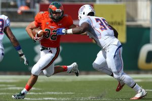Leonard Myers linebacker of Savannah State is a very solid prospect with speed and quickness