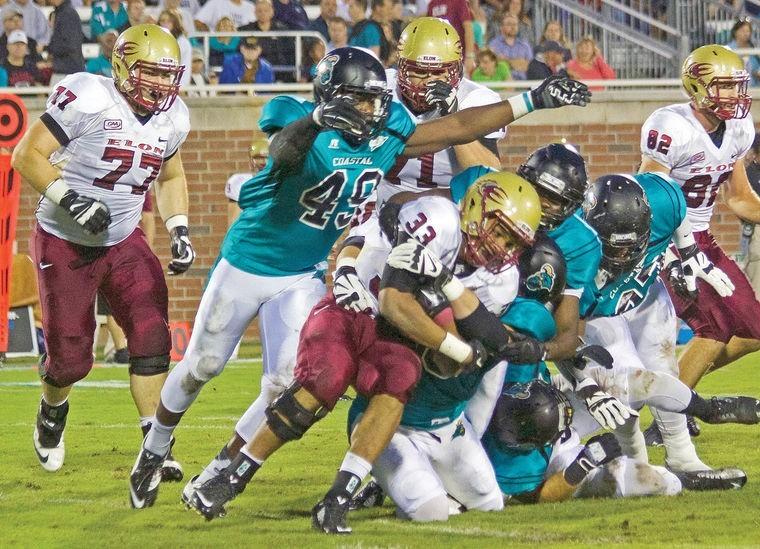 Coastal Carolina linebacker Roderick Holder is a beast off the edge