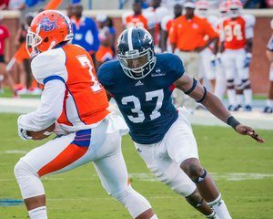 Georgia Southern University linebacker Antwione Williams had a huge week at the Shrine game