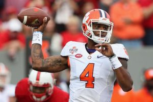 Clemson sophomore quarterback Deshaun Watson is the early favorite for Heisman