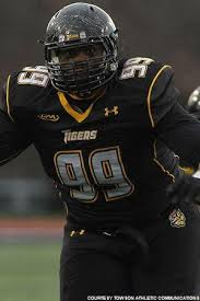 Towson defensive tackle Jonathan Desir is a big boy who clogs the middle of the field