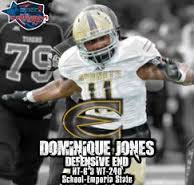 Dominique Jones is a fierce linebacker that plays sidelines to sidelines