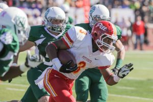 Pittsburg State running back Jamal Tyler is a very quick back with amazing vision
