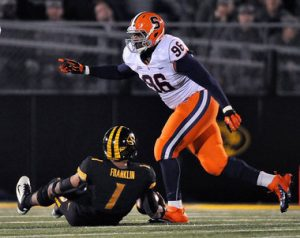 Syracuse defensive tackle Jay Bromley is under investigation in NY.