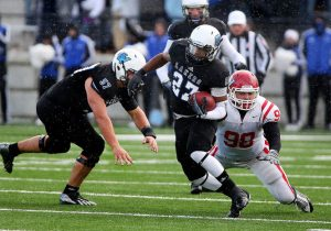 Grand Valley State University running back Kirk Spencer is a good player with good skills