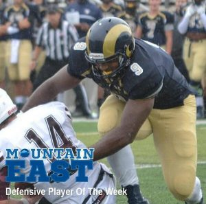 Shaneil Jenkins is a beast off the edge. He finished his Senior year with over ten sacks