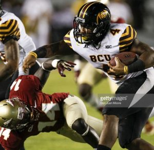Bethune Cookman running back Anthony Jordan is a power back who runs with intensity
