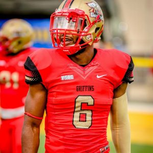 Seton Hill defensive back Robert Brown is a feisty player