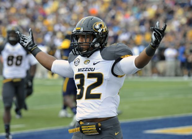 Missouri running back Russell Hansbrough has good vision and is quick. Hansbrough could be a steal in the NFL Draft