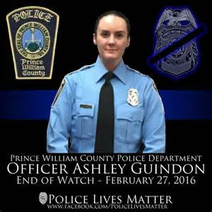 Ashley Guindon was killed in the line of duty this week, and a future football player is honoring her at the Combine