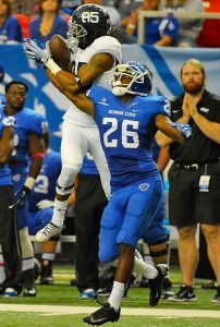 Dartez Jacobs the hard hitting safety from Georgia State is a very solid player with tons of range in the secondary