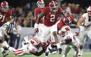 Alabama running back Derrick Henry weighed in at 247 pounds at the Scouting Combine