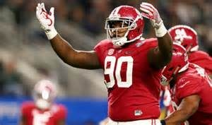 Draft prospect Jarran Reed stopped the highest percentage of run plays for a DT