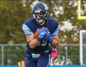 Kean University tight end Jonathan Schmitt has soft hands. He could be a good H Back option in the NFL