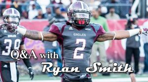 NCCU defensive back Ryan Smith is headed to the Combine. He is a playmaker