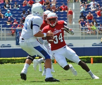 FAU rover Freedom Whitfield is a hard hitting safety that can play multiple positions
