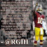 #Browns have signed former #Redskins QB Robert Griffin III
