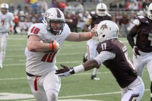 University of South Alabama tight end Braedon Bowman is a big kid with soft hands