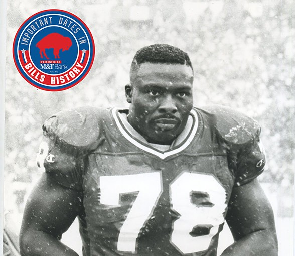 Bruce Smith will announce the Buffalo Bills second round pick