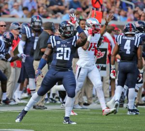 Ole Miss linebacker Christian Russell is a playmaker.