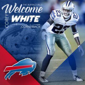 Bills have signed former Cowboys cornerback Corey White