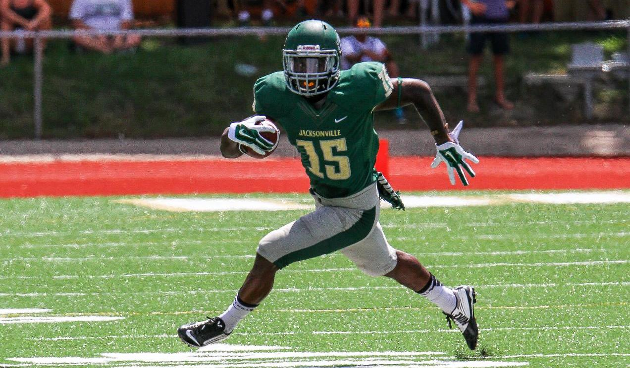 Jacksonville University defensive back Dallas Jackson is a very good player with solid ball skills