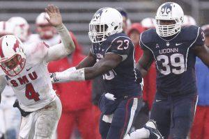 Uconn safety Junior Lee has been moving up NFL teams draft boards