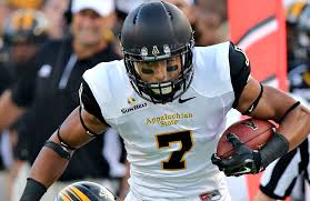 App State wide out Malachi Jones will attend the Falcons local day