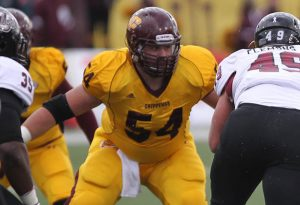 Lions are hosting Central Michigan offensive lineman Nick Beamish for their local day